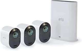 Arlo Ultra 4K UHD Wire-Free Security 3 Camera System, Colour Night Vision, 180 Degree View, 2-Way Audio (VMS5340-100AUS)