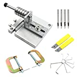 Aluminium Alloy Leather Strap Cutter 60MM Leather Strip Cutting Tool Belt Machine with 20 Blades,8 Wrenchs and 4 Leather Hole Punch Cutter