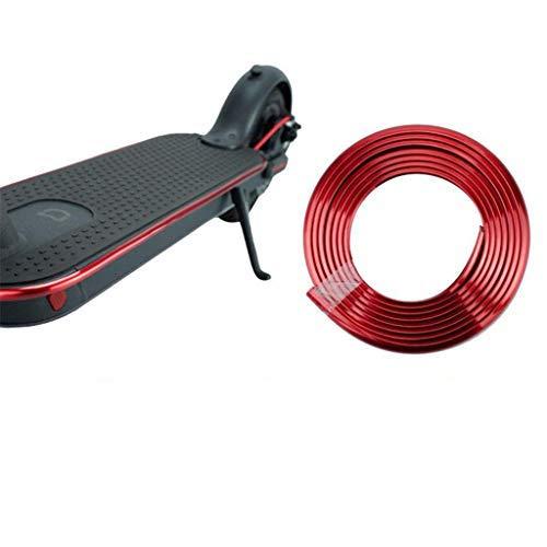 Linghuang Scooter électrique Bande Protectrice Anti-Collision pour Trottinette Xiaomi Mijia M365 M187 Bande de Pare-Chocs de Skateboard Bandes Décoratives Pièces Accessoires (Rouge électrolytique)