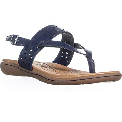 Price comparison product image b.o.c. Womens Clearwater Open Toe Casual Slingback Sandals,  Navy,  Size 8.0
