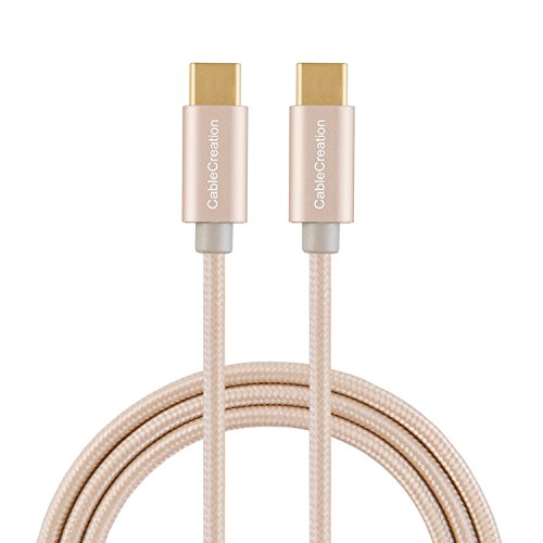 CableCreation USB C to USB C Cable 10ft, USBC to USBC Braided Data Charging Cable(3A), Compatible with MacBook (Pro), Galaxy S10/S9/S9+, Pixel 3XL, Nexus 5X/ 6P, etc (Gold)