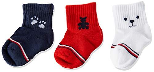 Tommy Hilfiger Th Baby Sock 3p Newborn Giftbox calcetines, tommy original, 44149 (Pack de 3) para Bebés