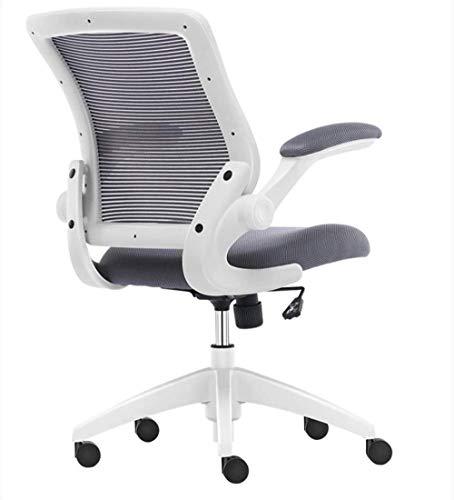 Silla giratoria para escritorio de oficina THBEIBEI silla giratoria para juegos de oficina, silla de trabajo, barandilla giratoria para ahorrar espacio, tipo S, peso de 200 kg, 2 colores (color: gris)