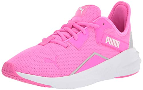 PUMA womens Platinum Cross Trainer, Luminous Pink-puma White-metallic Silver, 8 US