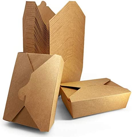 67 oz 36 Count Kraft Brown Papernain Take Out Food Containers Disposable Paper Boxes product image
