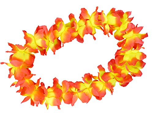 Alsino Hawaiiketten Blumenkette Hula Deluxe, wählen:gelb orange 05