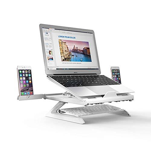Op 9 Niveaus Verstelbare Laptopstandaard Opvouwbare Draagbare Antislipsteunen Houder Holle Warmteafvoer Voor 12-17 Inch Mobiele Telefoons/Laptops/Tablet-Pc Zonder Voetstandaard