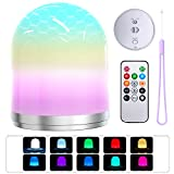 Night Light with Remote Controller, Portable RGB LED Kids Lantern with Lanyard, Dimmable Warm Light, Auto Gradient Colors, 0.5 Hour Timer, Rechargeable Baby Lamp for Home Bedside Camping Tent