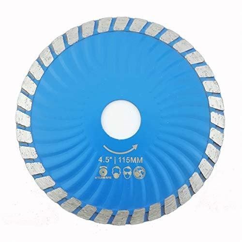 ZhengELE Hot pressed Diamond Waved Turbo Blade Stone Marble 4.5'/115mm or 5' 125mm Diamond Saw Blade Cutting disc diamond wheel (Color : 115MM)