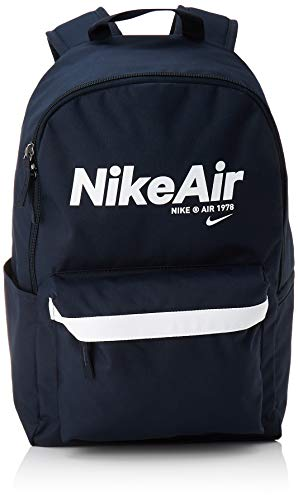 Nike NK Heritage BKPK - 2.0 NKAIR Sports Backpack, Dark Obsidian/Dark Obsidian/(White), MISC