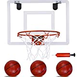 PikDos Indoor Mini Basketball Hoop for Kids and Adult 16 X 12 Inch Board Family...