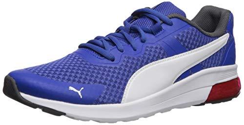 PUMA Men's Electron Sneaker, Surftheweb-White-Asphalt-highriskred, 10.5 M US