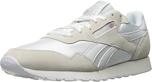 Reebok Royal Herren Sneaker aus Nylon, Weiá (Us-White/White/Steel), 48 EU