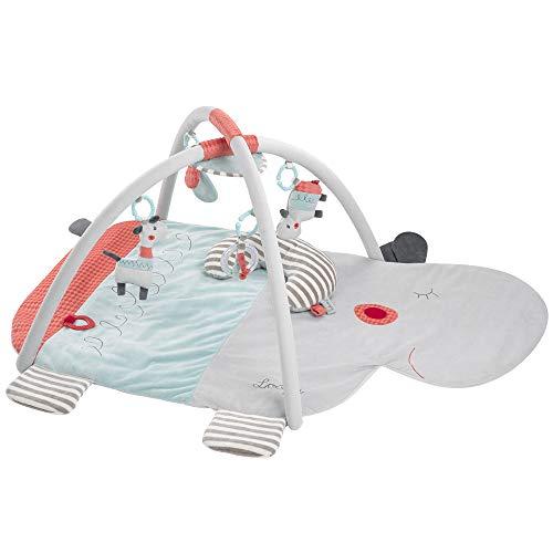 Fehn 059014 Loopy & Lotta - Manta de actividad 3D para bebés y niños pequeños a partir de 0 meses - Dimensiones: 85 x 110 cm (Producto para bebé)