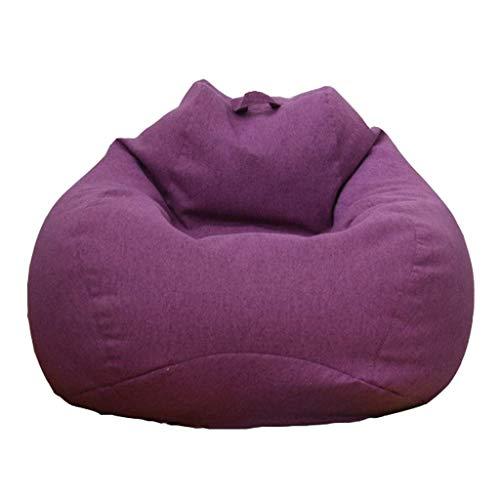 ZXL Kids Small Sitzsack Classic Soft Comfy Gaming Bean Chair gefüllt mit Virgin Beans Schöne Formen für Wohnaccessoires in Form geliefert gefüllt (Farbe: A, Größe: 100 * 110 cm)