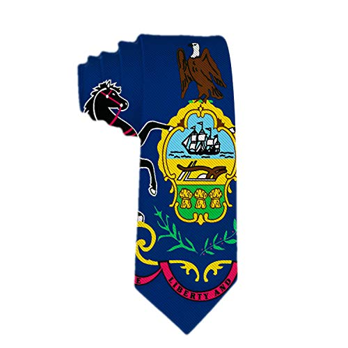 Bandera del estado para hombre - Corbata de Pensilvania Corbata de poliéster Corbatas de jacquard para hombre Regalo de novedad
