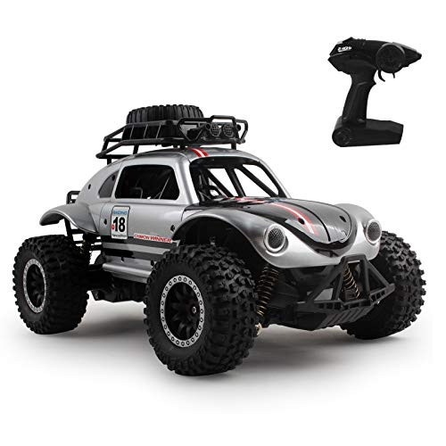 Vokodo Large 1:14 Scale RC Beetle Truck 2.4Ghz High Speed 20km/h Electric Remote Control Rechargeable Radio Off-Road Big Wheels Car Bug Ready to Run RTR Perfect Toy Vehicle Gift for Kids