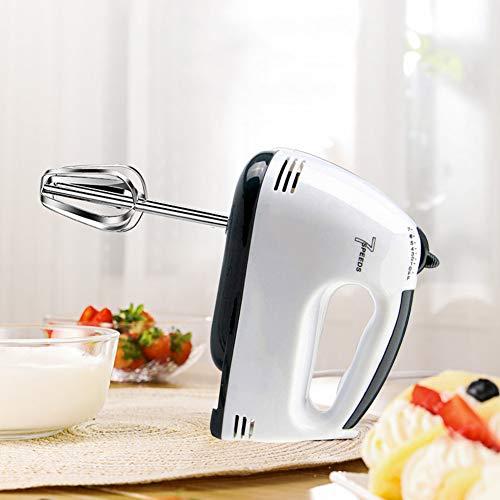 Modrad Elektrische Handmixer Set Handrührer Leise Handrührgerät Küche Egg Beater Rührer 180 W 7 Geschwindigkeitsstufen Weiß