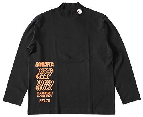 MISHKA ミシカ ロンT 長袖 ハイネック キープウォッチ ウェーブロゴ (M21000001) XL BLACK