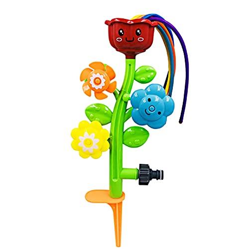 Rubuiz Wassersprüher im Freien für Kinder und Kleinkinder - Niedlicher Rasensprenger für Kinder mit Wackelrohren - Spritzspaß für Sommertage - Wird am Gartenschlauch befestigt