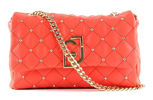 Borsa donna Liu-jo It bag Tracolla Crossbody S in ecopelle matelassé rosso corallo BS20LJ10