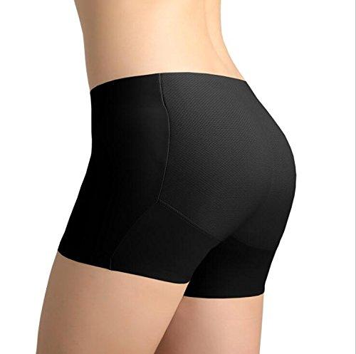 Alamor 3-Pack één stuk naadloos, billen, gewatteerde broek, nep kont, veiligheid, lage taille vrouwen ondergoed