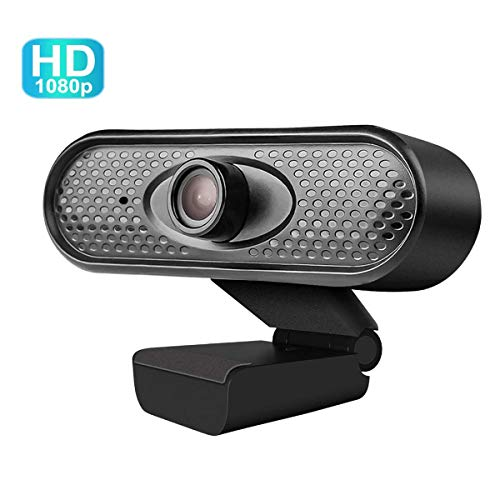 VERORAS Webcam, Full-HD Web cam, Webcam mit Mikrofon, eingebautes Mikrofon, PC-Kamera, Plug&Play, Windows/MacOS/Linux, ideal für Zoom, Skype, FaceTime und andere Programme