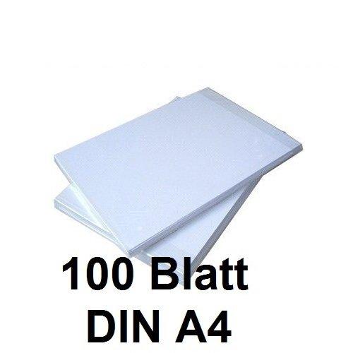 100 BLATT SUBLIMATIONSPAPIER/THERMO-TRANSFERPAPIER DIN A4 für Shirts, Caps, Tassen, Mousepads. Hervorragende Übertragungsqualität, Farbannahme und Farbsättigung, schnell trocknend, wischfest