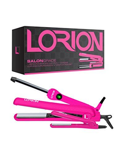 LORION LOF50NTU 3 Piece Set 1.25' Chrome Flat IRON 0.5' MINI 1' BARREL Neon