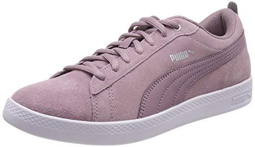 Puma Damen Smash WNS v2 SD Sneaker, Violett (Elderberry-Silver-Puma White 12), 39 EU