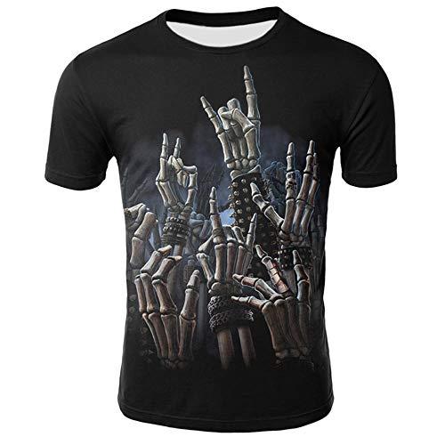 Camisetas con Estampado 3D para Hombres Disfraz de Cosplay de Halloween Camiseta con Dedo de Gota de Sangre Mujeres Casual Nios Nias Camiseta de Manga Corta Tops Cadera
