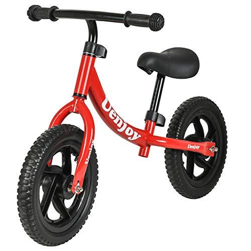 Uenjoy Kids Balance Bike for 2-4 Years Old Boys & Girls, Toddler Balance Push Bike with 12' EVA Polymer Foam Tire for Children, Height Adjustable, Lightweight Frame, red