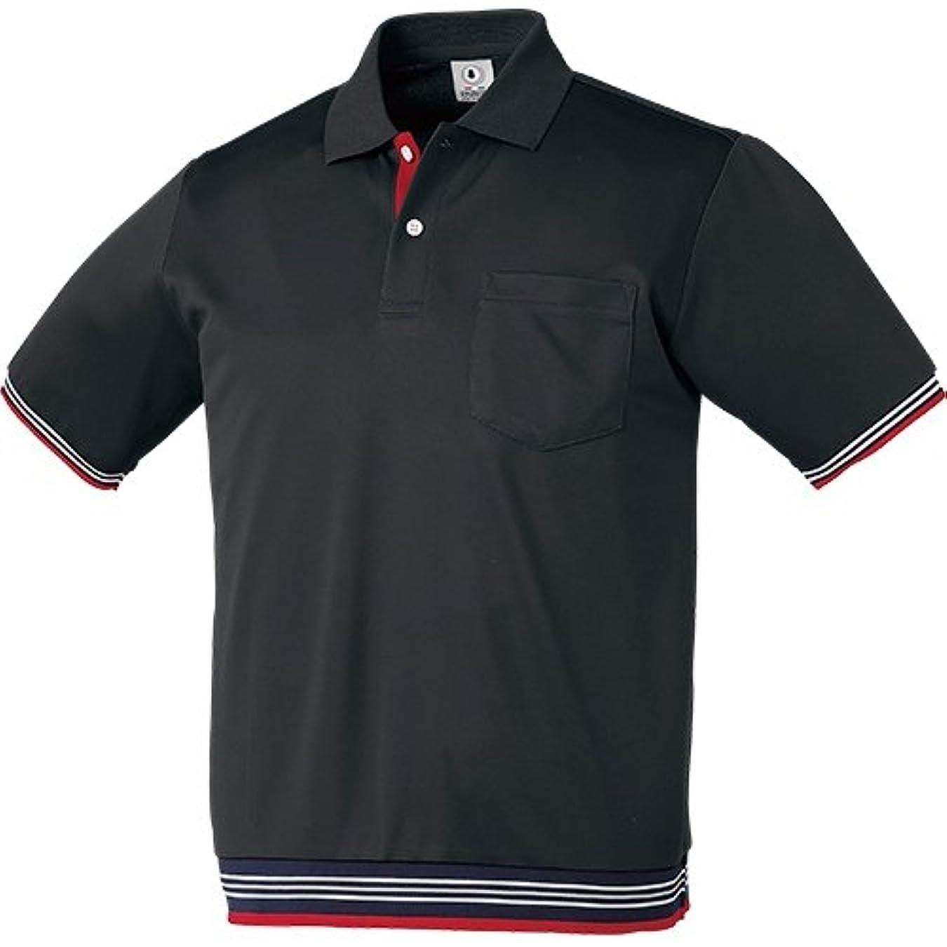 デイジー気味の悪い新年クロダルマ 26451 半袖ポロシャツ リブ付 ブラック 5L