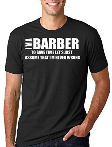 Silk Road Tees Peluquería Camiseta Camiseta Regalo barbería Camiseta de los Hombres para el Peluquero Camisa Medium Negro