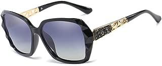 ZEVONDA Womens Classic Polarised Sunglasses - 100% UV Protection Retro Fashion Oversized Glasses, Black-Grey