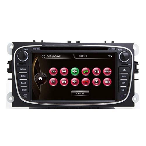 JIBO para Ford Enfoque II 2008-2011 Auto Cabeza Unidad 7' Auto Radio Doble Estruendo GPS Navegación Tocar Pantalla Teléfono Control Bluetooth SWC Estéreo Multimedia Jugador Video Receptor