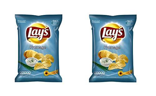 LAY'S Patatas fritas (sabor a crema agria), 215 g - Pack de 2