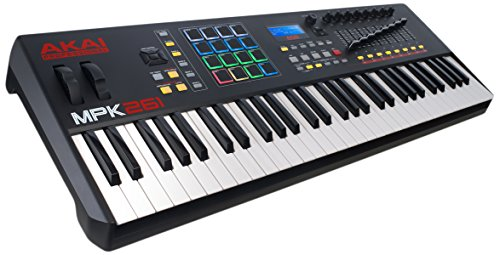 AKAI Professional MPK261 - USB MIDI Keyboard Controller with 61 Semi Weighted Keys, Assignable MPC Controls, 16 Pads and Q-Links, Plug and Play