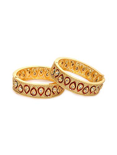 Indisches Kundan Kada Armreifen, Brautschmuck, traditionelles dickes Armband, Kada Armreif, indisches Schmuckset