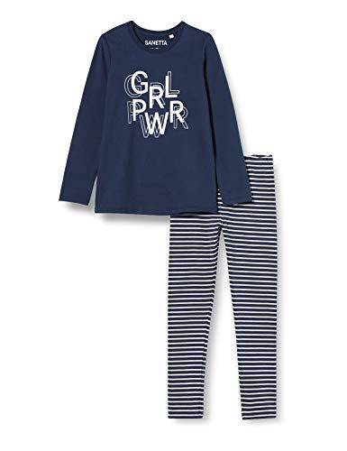 Sanetta Mädchen Schlafanzug Midnight Schöne dunkelblaue Schlafkombination wohlfühlt, Blau, 152