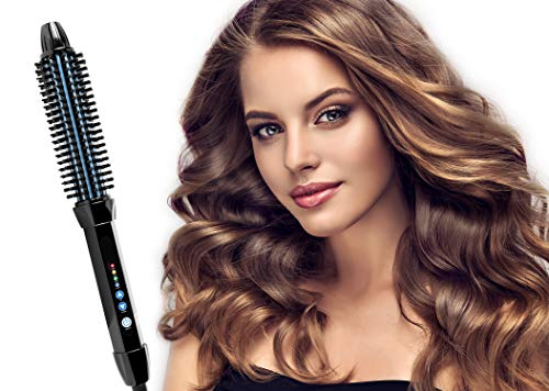 LESASHA Travel Round Hair Curling Iron Hot Roller Brush Fast Heating Easy Volume Styling Hot Hair Brush, Tourmaline Ceramic Thermal Salon Brushes Curlers Volumizers Hair Crimpers Electric Comb, 1 Inch