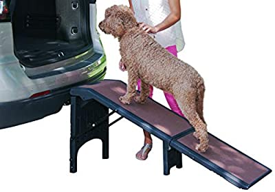 Pet Gear Free Standing Extra Wide Pet Ramp for Cats and Dogs Up to 300-Pounds, Chocolate