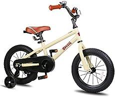 JOYSTAR 14 Inch Kids Bike for 3 4 5 Years Boys Girls Gifts Bikes Unisex Children Bicycles with Training Wheels BMX Style 85% Assembled Beige