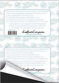 2 x EZMount Foam Thin Black Rubber Stamp Block Mounting Sheet 8.5