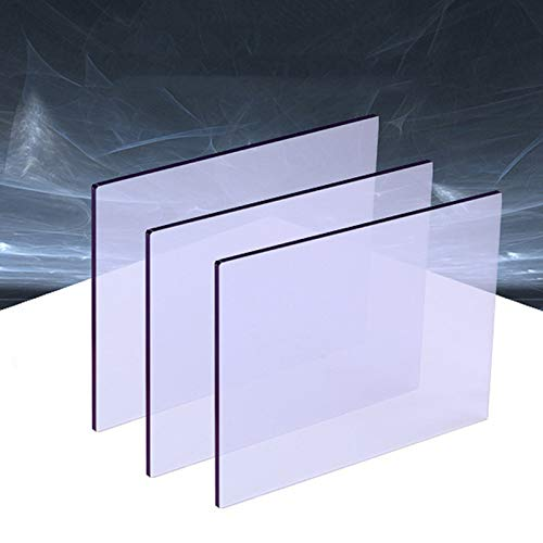 YJSMB Paneles de Policarbonato, A Prueba De Roturas Hoja De Seguridad De Plástico para Cobertizo De Ventanas, Invernadero Grado UV, 3 Piezas 2,8 Mm Grueso Vidrio Platos (Size : 600mm x 600mm)