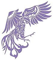カッティングステッカー 鳳凰 不死鳥 フェニックス phoenix トライバル (右) 160mmX140mm ラベンダー 薄紫