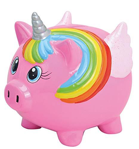 foolonli Spardose Schwein Einhorn Rosa Sparschwein Geschenk Mitbringsel Kinder Sparen XL