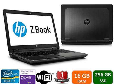 """HP Zbook 15 G3 Intel i7-6700HQ, 16GB Memory, 256GBSSD, 15.6"""" Screen, 1920x1080, Win 10 Pro(Renewed)"""