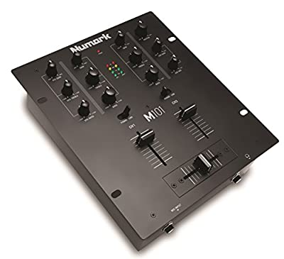 Numark M101 | 2-Channel All-Purpose DJ Mixer, Rack Mountable with 2-Band EQ, Club-Ready Inputs, Microphone Input and Replaceable Crossfader