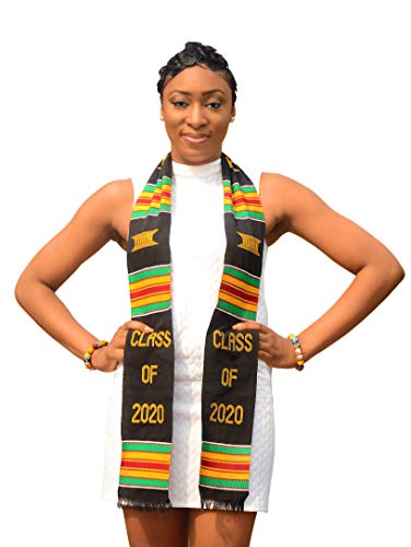 Royal Kente Class of 2021 Kente Cloth Graduation Stole. Look Amazing on Your Grad Day